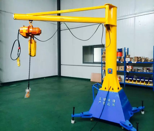 250kg移动式270度旋转悬臂吊