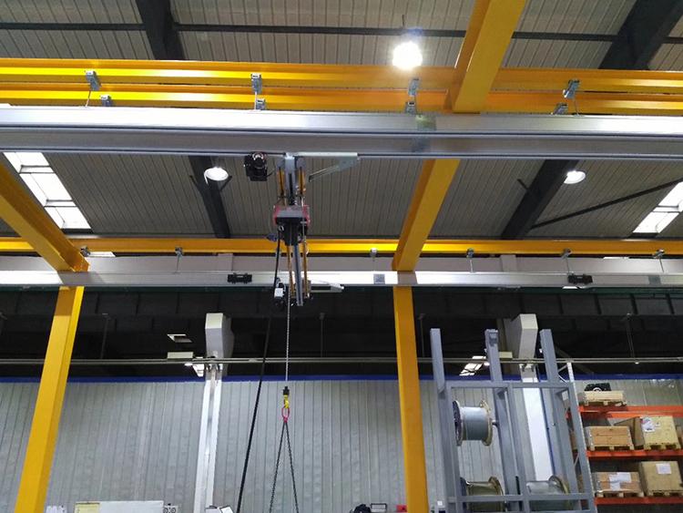 500kg电葫芦铝合金轨道组合起重机
